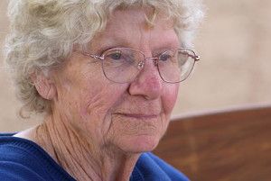 Older woman beginning to suffer from glaucoma
