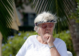 Elderly Boca Raton Woman Out in Nature