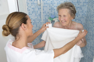 Home Care Aide  and elderly woman