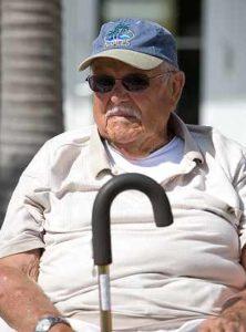 lonely old Florida man at holiday season