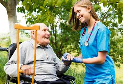 Senior man recovering from a fall. Home safety for seniors in important