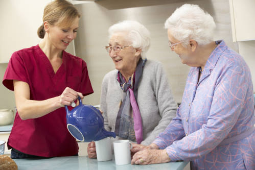 aging at home with aide