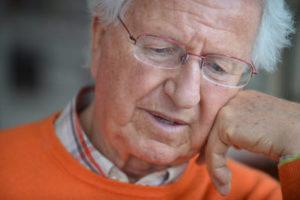 elderly man with Alzheimer's
